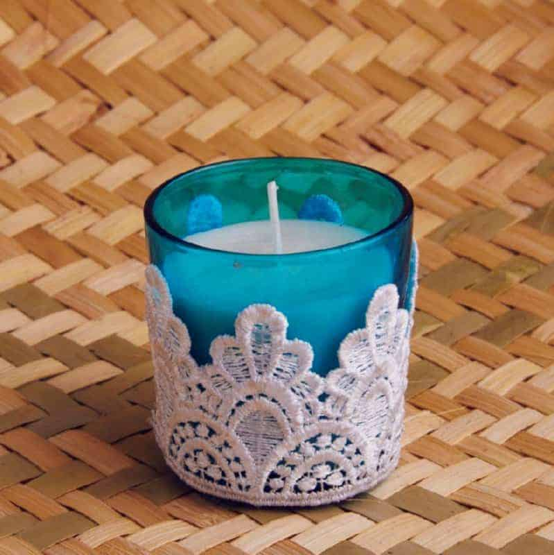 Blue Lace Styled Candles