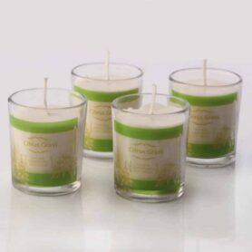 Citronella Neem & Tulsi Natural Wax votive Candle Set of 4