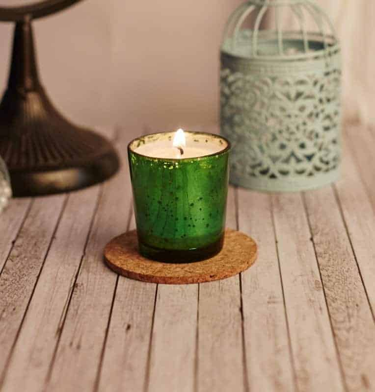 Festive Green Voltive Natural Wax Candle