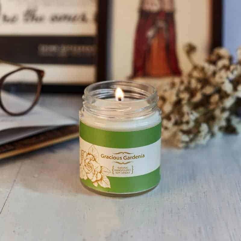 Gardenia Natural Wax Medium Jar Candle