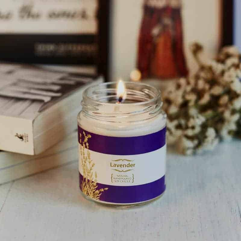 Lavender Natural Wax Medium Jar Candle