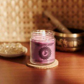 Meditation Candles – Crown Chakra Natural Wax Medium Jar Candle