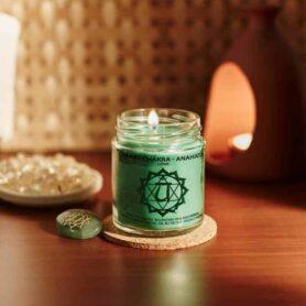 Meditation Candles – Heart Chakra Natural Wax Medium Jar Candle