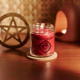 Meditation Candles – Root Chakra Natural Wax Medium Jar Candle