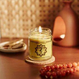 Meditation Candles – Solar Plexus Chakra Natural Wax Medium Jar Candle