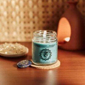 Meditation Candles – Throat Chakra Natural Wax Medium Jar Candle