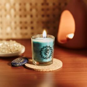 Meditation Candles – Throat Chakra Natural Wax votive Candle