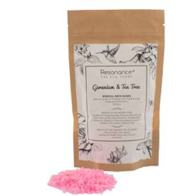 Mineral Bath Soak Geranium and Tea Tree Essential Oil and Himalayan Rock Salt Blends