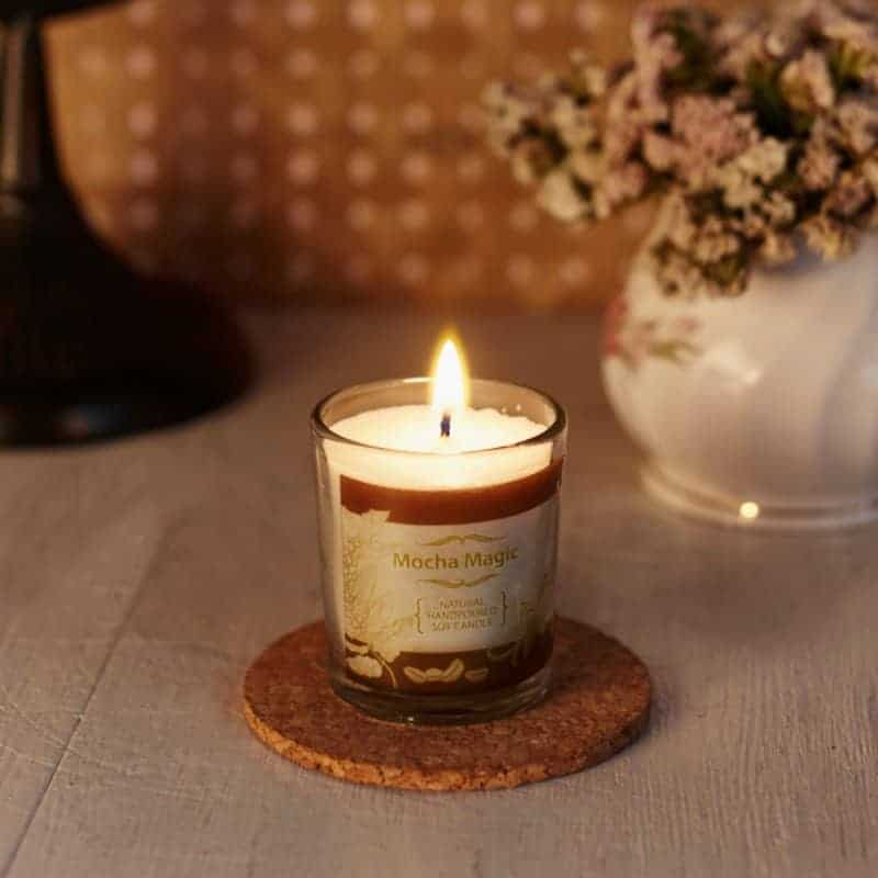 Mocha Natural Wax Voltive Candle