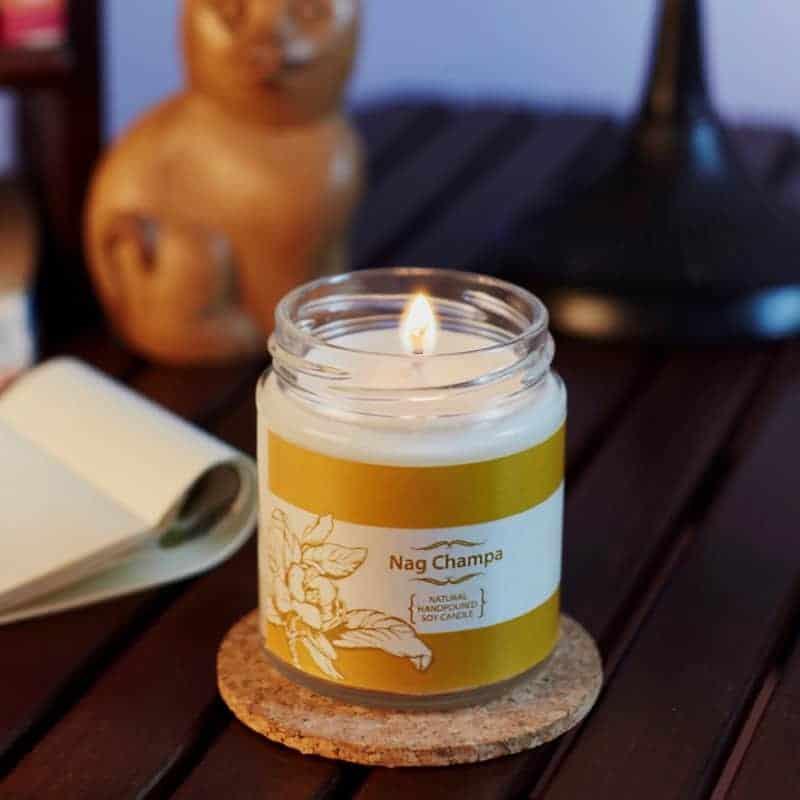 Nag Champa Natural Wax Medium Jar Candle