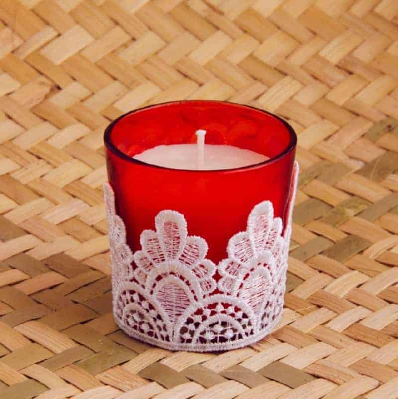 Orange Lace Styled Candles