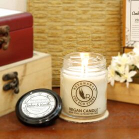 Amber & Vanilla Fragrance Natural Wax Aroma  Medium Jar