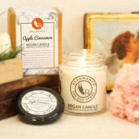 Apple Cinnamon Fragrance Natural Wax Aroma  Medium Jar