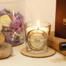 Cocoa Fragrance Natural Wax Aroma Votive