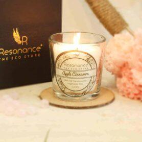 Apple Cinnamon Fragrance Natural Wax Aroma Votive