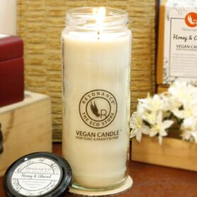 Honey & Almond Fragrance Natural Wax Aroma Large Torch