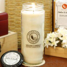 Amber & Vanilla Fragrance Natural Wax Aroma Torch