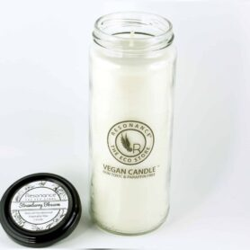 Strawberry Blossom Fragrance Natural Wax Aroma Large Torch