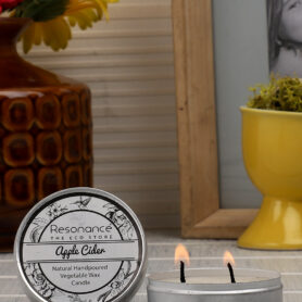 Resonance Candles Apple Cider Fragrance Aromatic Travel Tin Candles