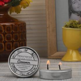 Resonance Candles Cinnamon Fragrance Aromatic Travel Tin Candles