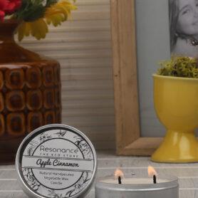 Resonance Candles Apple & Cinnamon Fragrance Aromatic Travel Tin Candles