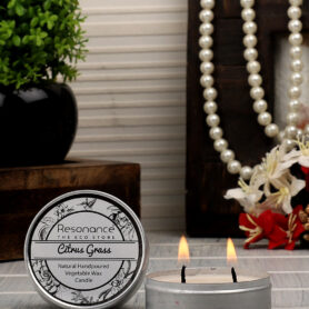 Resonance Candles Citrus Grass Fragrance Aromatic Travel Tin Candles – Mosquito Repellent Candle
