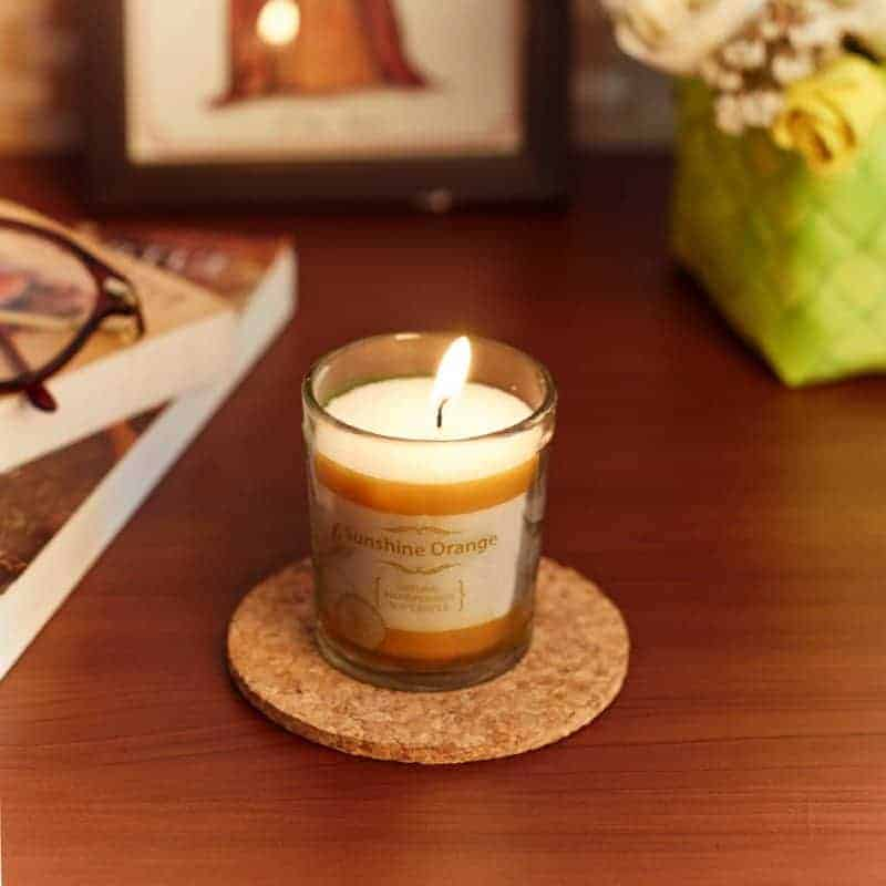 Sunshine Orange Natural Wax Voltive Candle