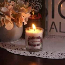 Congratulations Gift Votive Natural Wax Candle