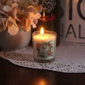 Best of Luck Gift Votive Natural Wax Candle
